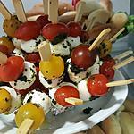 recette mini brochette tomate et mozza