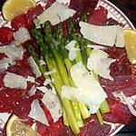 recette Carpaccio de boeuf aux asperges vertes