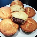 recette Muffins coeur nutella