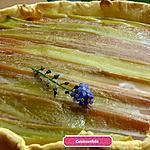 recette Tarte Amandine compote de pomme et rhubarbe