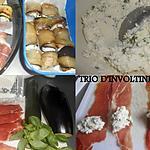 recette TRIO D'INVOLTINI RICOTTA BASILIC