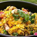 recette Taboulet de quinoa et millet au poulet ,coriandre ,  citron confit et noix de cajou