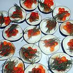 recette Radis noir aux oeufs de saumon