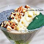 recette Crème dessert au fonio et kiwi, sans gluten et vegan