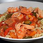 recette Pâtes aux saveurs de la mer et aux légumes du sud