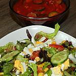 recette Salade composée et sa petite sauce provençale