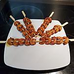 recette Brochettes de crevettes