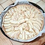recette Tarte aux pommes sur fond de compote