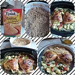 recette Hauts de cuisses de poulet courgettes tomates cerises en papillote