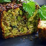 recette Cake aux orties, asperges vertes et lardons