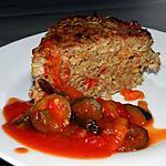recette Pain de viande aux riz complet et sa petite ratatouille