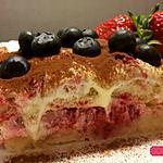 recette Tiramisu aérien aux framboises , fruits rouges et vanille