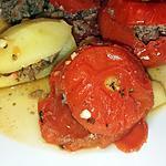 recette Tomates et pommes de terre farcies au boeuf -cookéo-