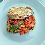 recette Thon mariné grillé à la basquaise