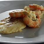 recette Filet de limande sauce à la moutarde et scampis