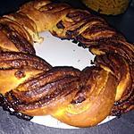 recette Couronne brioche tressé au Nutella