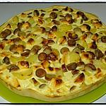recette Tarte pomme de terre knacki vache qui rit