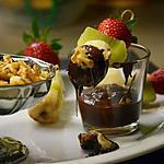 recette Fondue tutti frutti au chocolat et noix