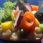 recette Tarte fine au caviar d'aubergine et mille légumes