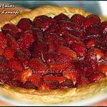 recette Tarte aux fraises et crème d'amandes