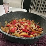 recette Chou chinois aux poivrons et lardons