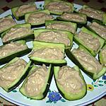 recette Barquettes de courgettes au thon