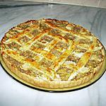 recette Tarte aux pommes,raisins secs et noix