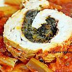 recette Filet de dinde farci aux pissenlits et crème de tomate