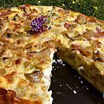 recette Gâteau de semoule rhubarbe et verveine