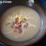 recette Potage aux asperges, œuf et crevettes grises