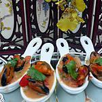 recette moules d'espagne avec son coulis de poivrons a la tomate