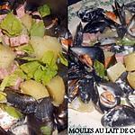 recette MOULES AU LAIT DE COCO