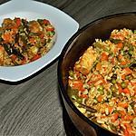 recette Riz au poulet et légumes cuisson au four