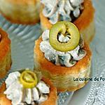 recette Zakouski à la crème de sardinade au thym