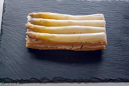 Photo de recette de feulletés d'asperges blanches de Kilomètre-0, blog de cuisine réalisée à partir de produits locaux et issus de circuits courts