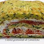 recette Roulé de courgettes à la truite fumée et boursin ail et fines herbes