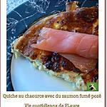 recette Quiche au chaource avec du saumon fumé posé