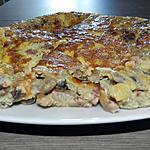recette Omelette aux champignons et lardons