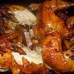 recette Poulet roti au paprika fumé et pommes de terre amandine