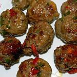 recette Boulettes farcies aux poivrons