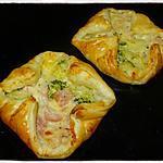 recette Feuilletés jambon brocolis