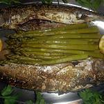 recette Maquereaux grillés aux aspeges vertes