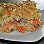 recette Gratin de pomme de terre aux carottes et lardons fumés