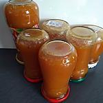 recette confitures pêches abricots