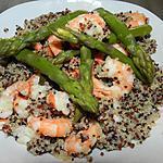 recette Quinoa aux scampis et asperges vertes