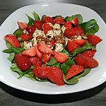 recette Quand les fraises se marient avec la salade
