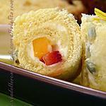 recette Petits roulés aux fruits de la passion, mangue et fraises