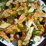 recette Salade de poulet aux avocats