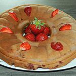 recette Gâteau au mascarpone et à la confiture aux fraises
