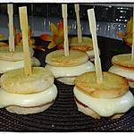 recette Minis croques jambon babybel